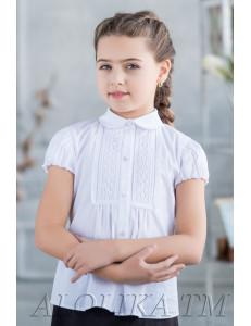 """Блузка белого цвета расклешенного силуэта """"Лиана"""""""