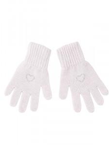 """Перчатки для девочки светло-розового цвета """"Валентинка"""""""