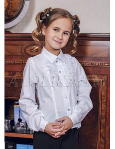 """Блузка белого цвета с кружевом """"Мотылек"""""""