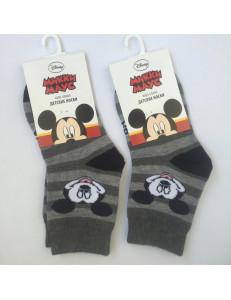 Носки полосатые для мальчиков дисней Микки
